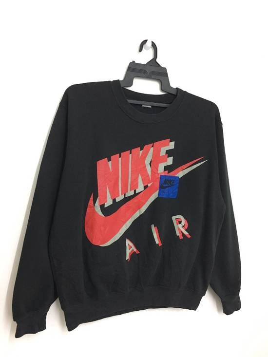 6e939442a Vintage 90's NIKE AIR Sweatshirt Big Logo Jumper Black Color Size m -  Sweatshirts & Hoodies for Sale - Grailed