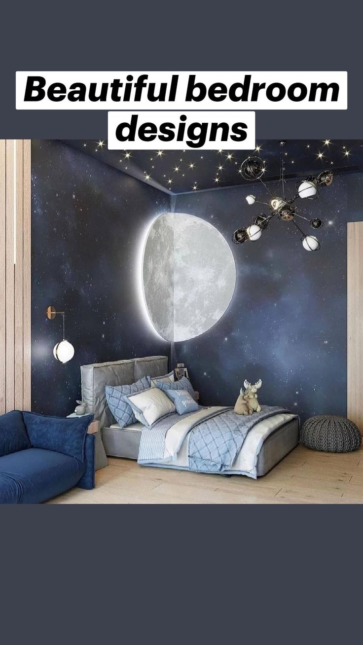 Baby Room Decor, Room Decor Bedroom, Girls Bedroom, Space Theme Bedroom, Outer Space Bedroom, Sea Theme Bedrooms, Night Bedroom, Nursery Decor, Master Bedroom