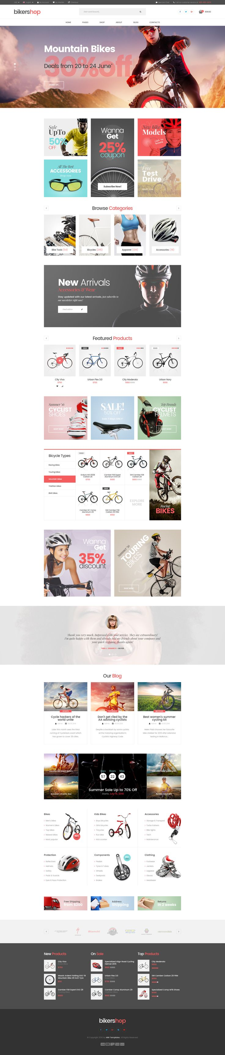 Biker Shop - premium PSD template • Download ➝ https://themeforest.net/item/biker-shop-premium-psd-template/16757338?ref=pxcr