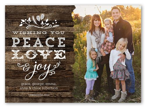 Rustic Greetings 5x7 Stationery Card by Lia Griffith | Shutterfly Christmas Card idea 2014