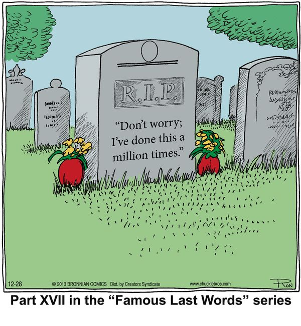 "Cartoon Word Quote: ""Famous Last Words"" Chuckle Bros Comic Strip"