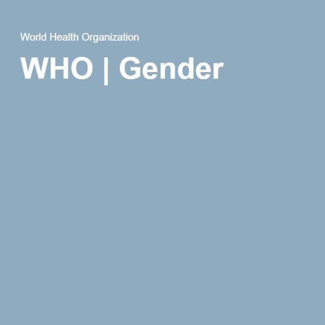 WHO | Gender