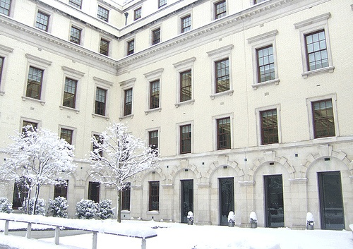 Snowy courtyard at 1 Horse Guards Road by HM Treasury, via Flickr