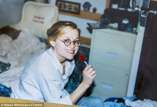 Cramming for finals? Reese Witherspoon shared a flashback photo on Friday to when she was a college studying at Stanford University in the Nineties