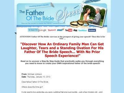 Wedding Speech Secrets Father Of The Bride