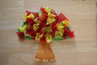 Burning bush craft made from paper plate and tissue paper.