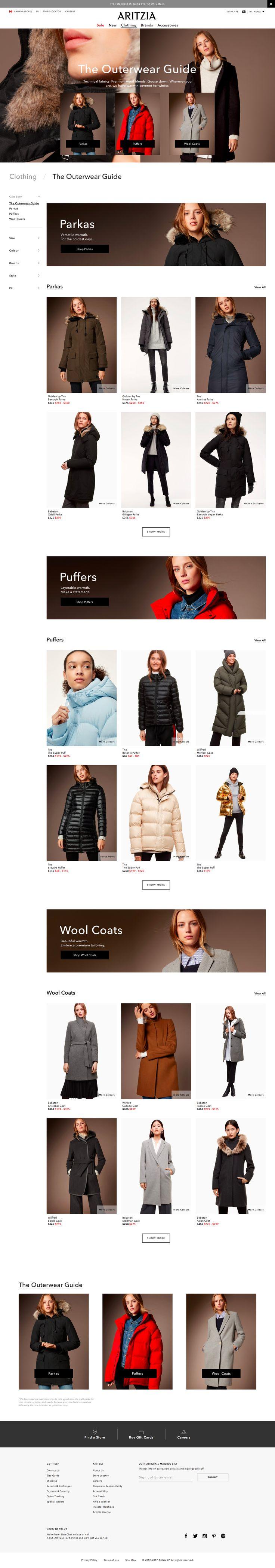 aritzia outerwear guide