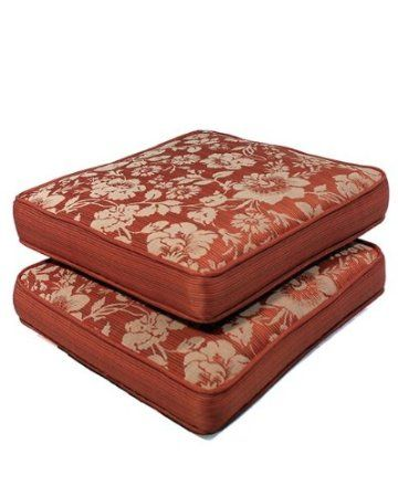 Set of 2 Outdoor/Indoor Seat Pads in Spun Polyester Mauve by by Comfort Classics Inc.
