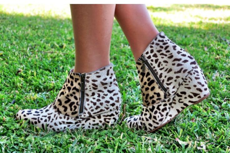 WILD LIFE |   Womens Ankle Boots / Custom Boots / Fur Cow Hide Print Size: EU 36 - 41 by SpencerBootsAU on Etsy https://www.etsy.com/au/listing/386663088/wild-life-womens-ankle-boots-custom