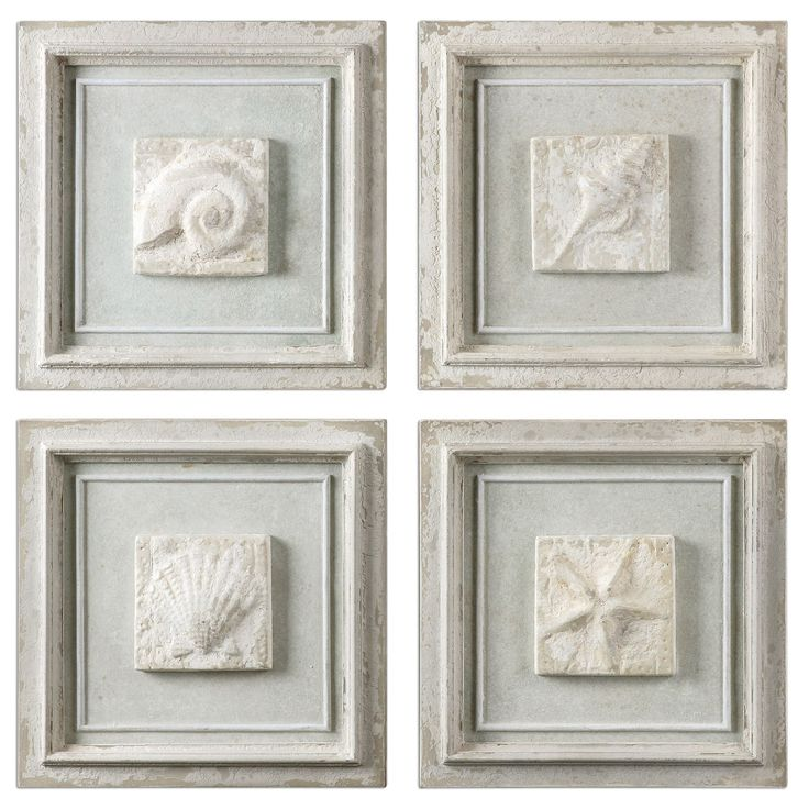 Matira Stone Wall Art Set of 4