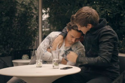 Andy gets a man-hug from Stevie, Made In Chelsea
