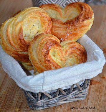 Brioches feuilletées en coeur - Recettes de cuisine Ôdélices