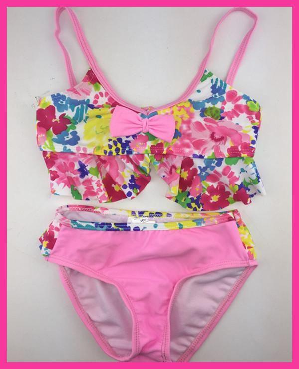 2017 Hot sales kid's two pieces swimsuit adjustable baby girl bikini Trajes de bano para ninas Badeanzug Kinder child swimsuit