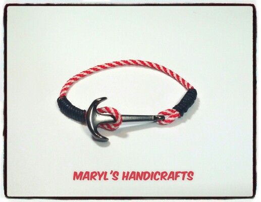 Bracelet for men. Navy style! Find it on Facebook : MaryL's Handicrafts