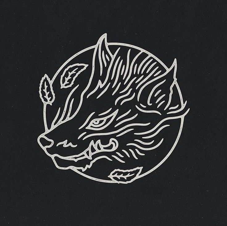 Japanese inspired fox/wolf. Art by Liam Ashurst