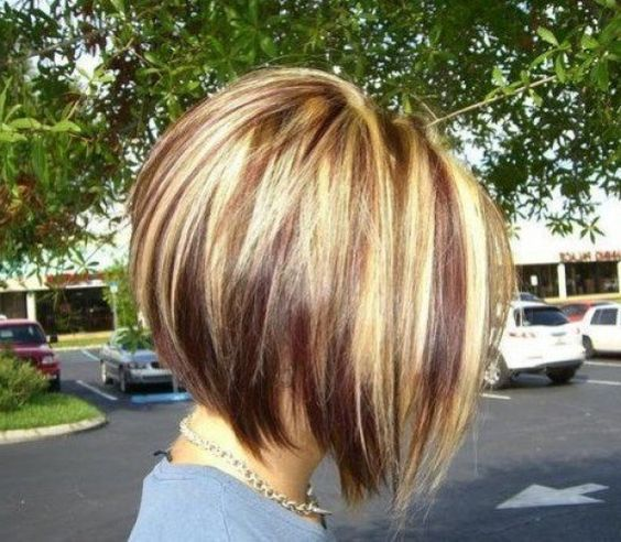 stacked bob haircut pictures back head Well Done for at the wedding ceremony