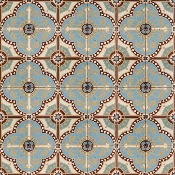 Blue French Clover Antique