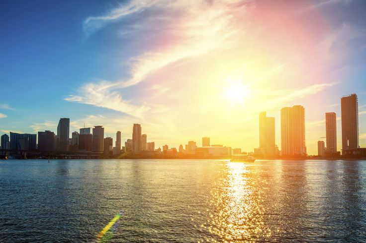 Miami bei Sonnenuntergang