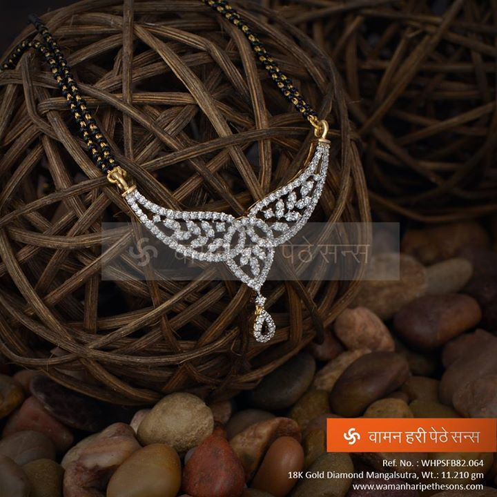 #Beauty at its best !!!  #Gold #diamond #mangalsutra from our all new collection.
