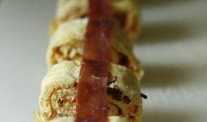 Omelette basque, façon sushis
