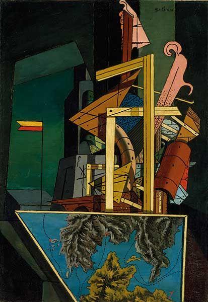 Giorgio de Chirico La malinconia della partenza (Mélancolie du départ), 1916 Olio su tela, cm 51,8 x 35,9 Londra, Tate - Opera in mostra