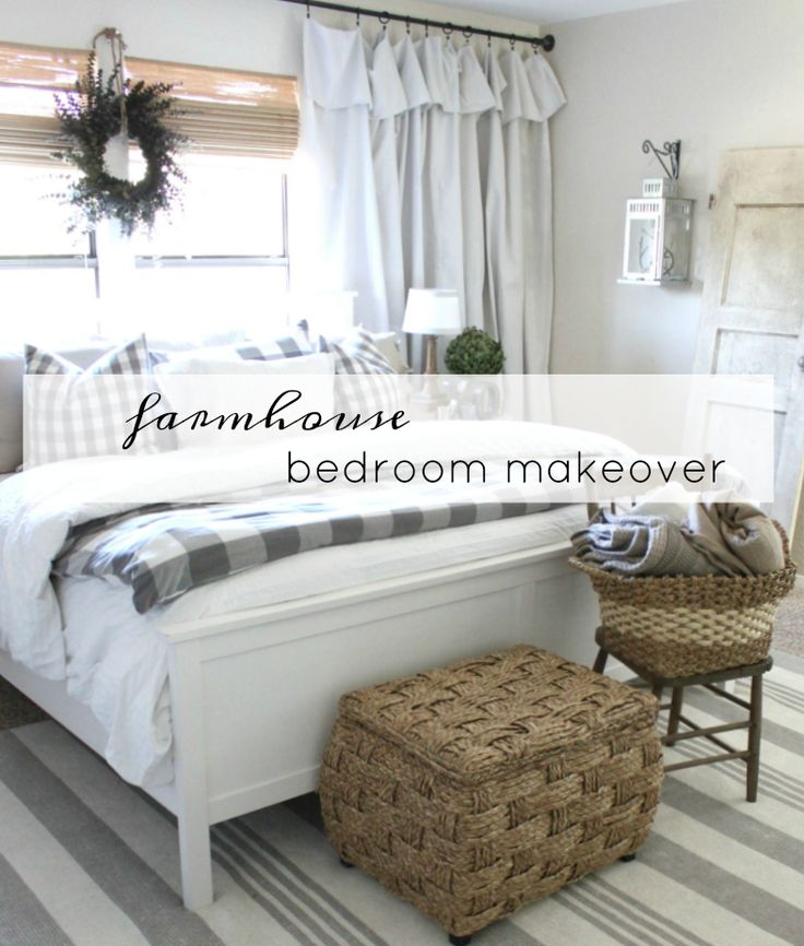 farmhouse bedroom makeover by An Inspired Nest