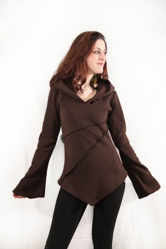 Pixie fleece jacket. Winter hoodie jacket. by AbstractikaCrafts