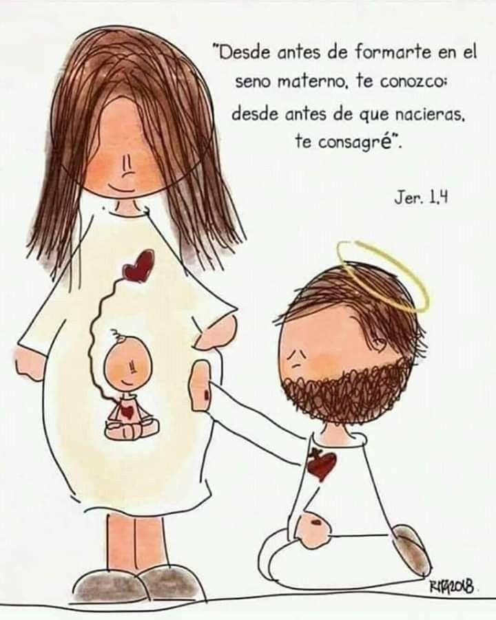 Pin De Sigfredo Tejada En Dios Embarazo Dibujo Frases Para