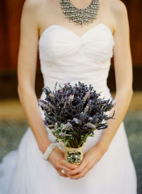 Dried Lavender Bridal Bouquet Fresh And Some Day