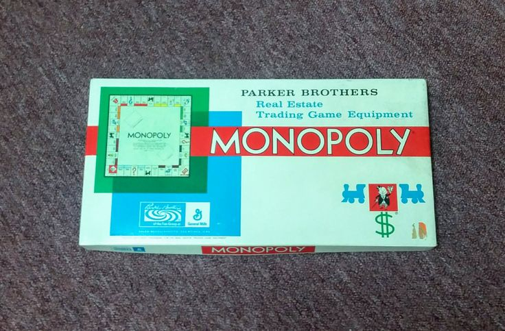 Vintage Game Monopoly Board Game 1961 No. 9 Parker Brothers 60's Mid Century Collectible Unused  Real Estate General Mills Made in USA by OffbeatAvenue on Etsy