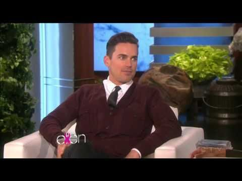 Matt Bomer entire interview part #2 (sex scene on American Horror Story Hotel ) - ELLEN TV SHOW - YouTube