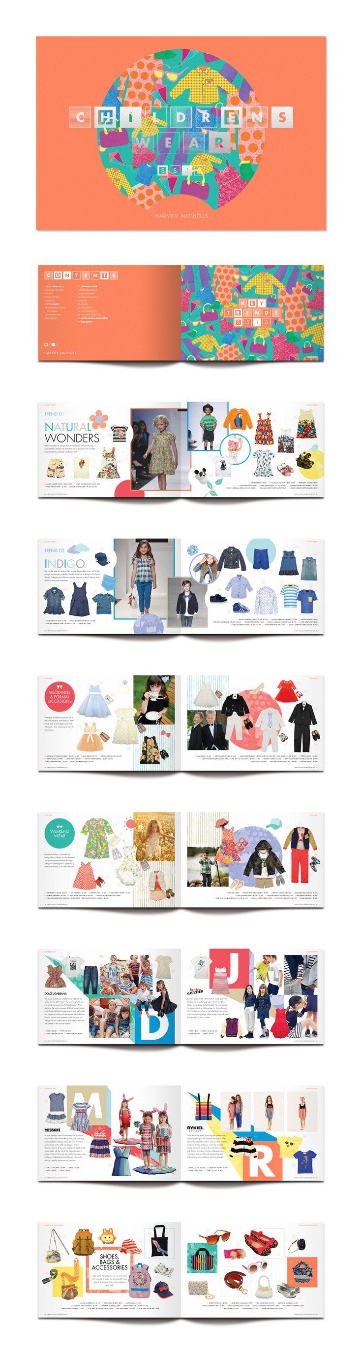 Harvey Nichols (HK) Childrenswear SS13 by Double Eleven Design Studio (via Creattica)
