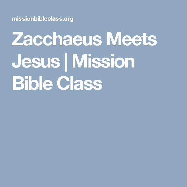Zacchaeus Meets Jesus | Mission Bible Class