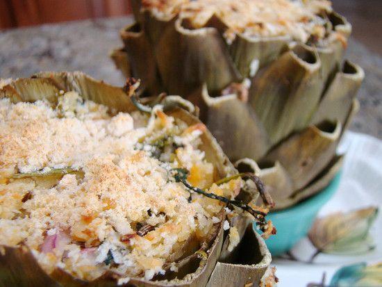stuffed #artichokes  #recipe http://www.organicauthority.com/simple-and-delicious-stuffed-artichokes-recipe/