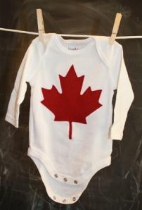 DIY Canadian Maple Leaf Onesie