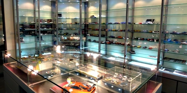Okay, not sure if this is actually in a garage, but one can't deny that this is a gorgeous display of model cars!