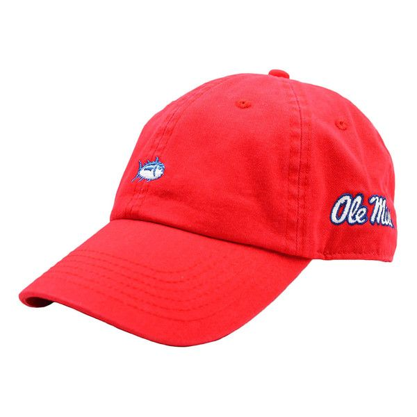 Ole Miss Mini Skipjack Hat in Red by Southern Tide