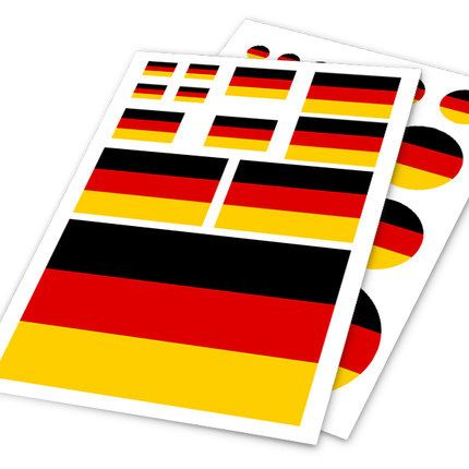 German Deutsch Flag Germany DE Car Auto Motorcycle Decal Set Sticker Scratch Off Cover Ipad Notebook Laptop Handy Car Styling