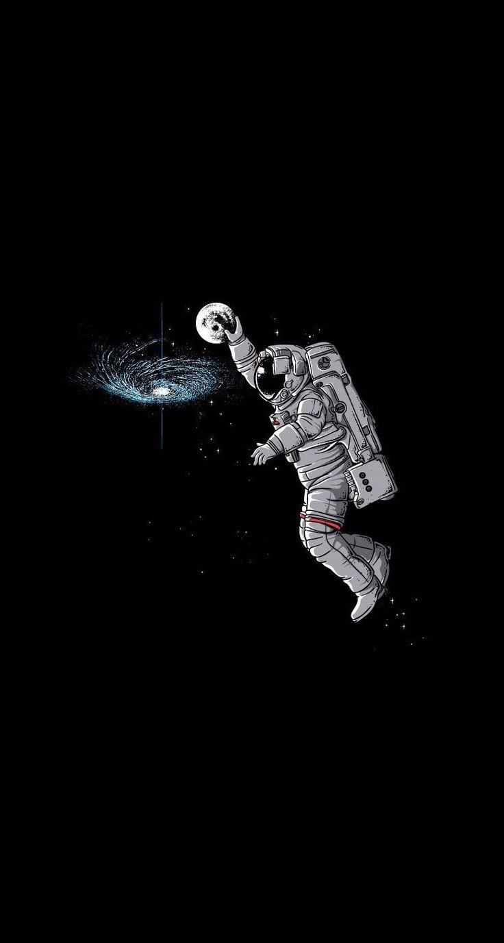 Papel De Parede Engracado Para Pc E Celular Wallpapers Astronaut Wallpaper Astronaut Illustration Funny Iphone Wallpaper