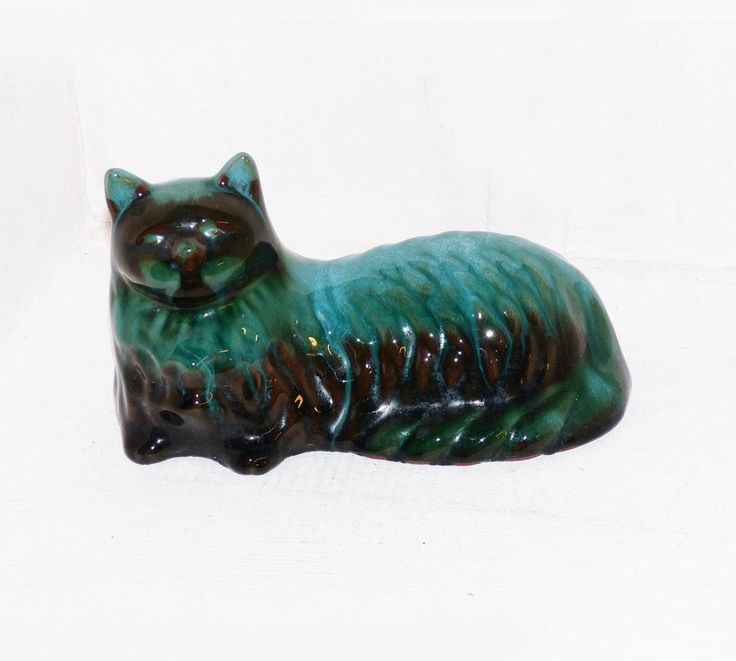 Blue Mountain Pottery Cat, Made in Canada, BMP  - 1147 by WildroseHeaven on Etsy