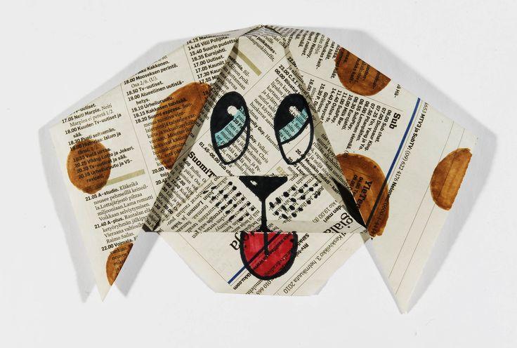 Hauskan paperikoiran taitteluohjeen löydät klikkaamalla kuvaa.  #aamulehti #askartelu #koulumaailma