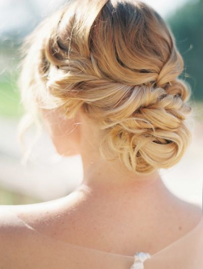 OBSESSED! Soft curl updo | bridal hair | http://www.stylemepretty.com/colorado-weddings/denver/2014/11/25/elegant-and-ethereal-inspiration-shoot-at-highlands-ranch-mansion/ | Photography: Sara Hasstedt - http://www.sarahasstedt.com/