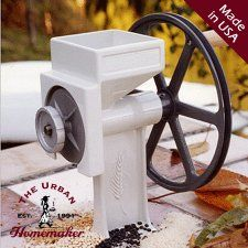 This is my #1 manual mill choice. I love it for it's durability and ability to produce flour. It can be used everyday and converted into an electrical device.