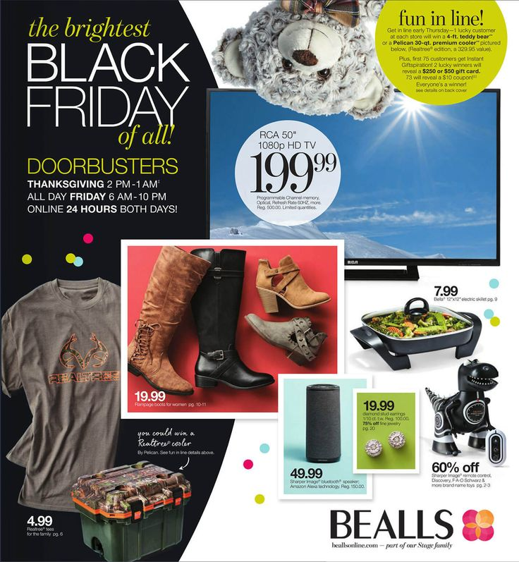 Bealls (Stage Stores) Black Friday 2017 Ad - http://www.olcatalog.com/blackfriday/bealls-black-friday.html