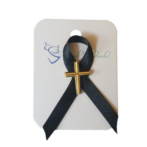 Modern Silver Ribbon Knot Tack Pin