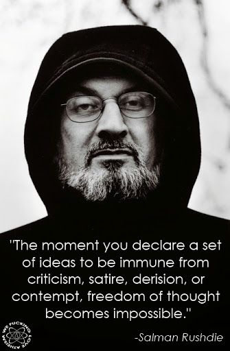 Salman Rushdie Ideas Immunity Quote | Irreligious Religion