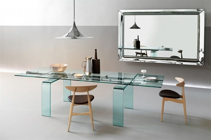 GlazenDesignTafel.nl   Glazen eettafel Gauss   FIAM   Italian design   Glass table by Bartoli Design   vidre glastoepassingen, Leiden