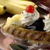 They'll go bananas over Grilled Banana Split, our ice cream sundae that gets its tasty start on the barbecue grill. Grilled bananas take only minutes, but this heavenly treat will happily linger in everybody's mouths!  GRILLED BANANA SPLIT