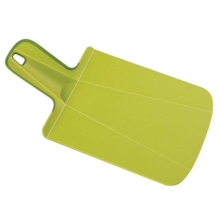 Joseph Joseph Chop2Pot Plus Foldable Plastic Cutting Board & Kitchen Prep Mat, Mini, Green