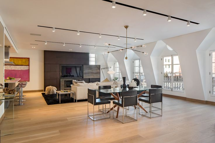 Renovated Two-Floor Penthouse: 41 Warren Street by Turret Architects